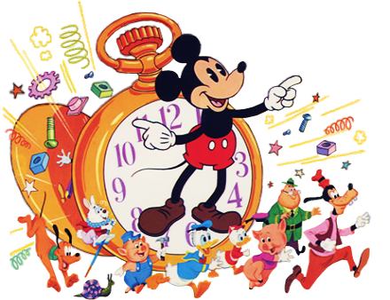 MICKEY CLOCK LOGO - 386 Top -10 Right -25 Bottom -8